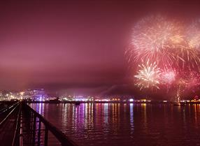 Fireworks off Southend Pier