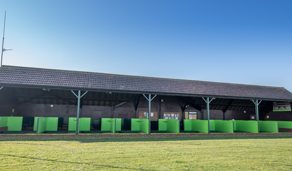 Driving Range at Waldegraves Holiday Park, Mersea Island, Essex
