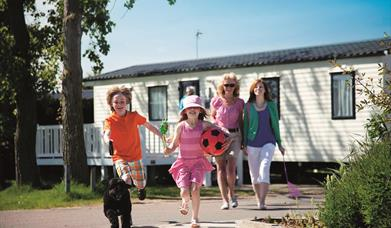 Evergreen Way Static Holiday Home Hire at Waldegraves Holiday Park, Mersea Island Essex