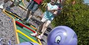 Crazy Golf at Waldegraves Holiday Park, Mersea Island, Essex